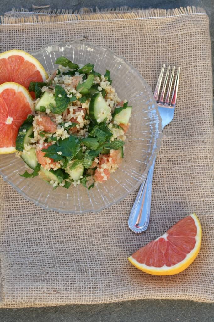 millet salad with oranges