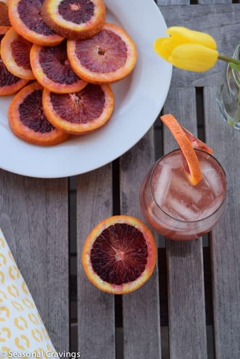 Blood Orange Wine Spritzer